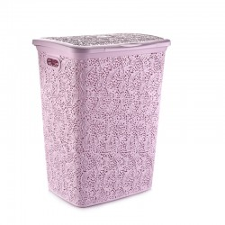Lace laundry basket with cover -50 L